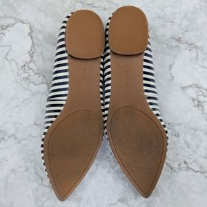 Nine West Shoes - Nine West   Navy White Striped Pointed Flats 11